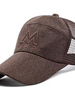 Недорогие -Муж. Классический Бейсболка Сетка,Однотонный Черный Светло-коричневый Светло-серый