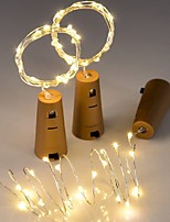 cheap -3pcs 20LED 2M Copper Wire Bottle Stopper String Lights for Glass Craft Bottle Fairy Valentines Wedding Decoration Party