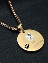 Недорогие -Персонализированные Индивидуальные Бультерьер Теги для домашних животных Классический Подарок Повседневные 1pcs Золотой Серебряный