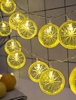 Недорогие -Brelong 2 м 10led ретро керосиновая лампа строка праздничные украшения освещение теплый белый с питанием от батареи черный / красный