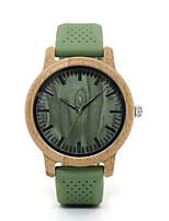 Недорогие -Для пары Нарядные часы Японский Японский кварц Стильные силиконовый Зеленый Нет Повседневные часы деревянный Аналоговый Дерево - Фрукты Зеленый Два года Срок службы батареи