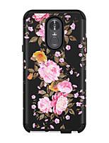Недорогие -Кейс для Назначение LG LG Stylo 4 Защита от удара Кейс на заднюю панель Цветы / Мрамор ПК / силикагель