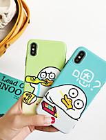 Недорогие -чехол для яблока iphone xs max / iphone 8 plus пыленепроницаемый / выкройка задней обложки слово / фраза / мультфильм тпу для iphone 7/7 plus / 8/6/6 plus / xr / x / xs