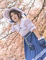 Недорогие -Вдохновлен Идентичность V Косплей Аниме Косплэй костюмы Японский Косплей Костюмы Косыночная повязка / Платье / Рукава Назначение Жен.