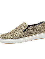 cheap -Men's Faux Leather Spring & Summer / Fall & Winter Business / Casual Loafers & Slip-Ons Breathable Black / Gold / Silver