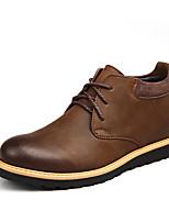 Недорогие -Муж. Кожаные ботинки Кожа Зима / Наступила зима Деловые / На каждый день Ботинки Ботинки Черный / Коричневый / Офис и карьера / Fashion Boots