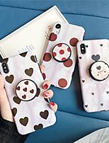 Недорогие -чехол для яблока iphone xs / iphone xr / iphone xs max с подставкой / выкройка задней крышки сердца тпу для iphone 6 6 плюс 6s 6s плюс 7 8 7 плюс 8 плюс x xs