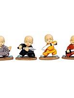 Недорогие -4 шт. / Компл. Милый кунг-фу мультфильм маленький монах кукла украшения приборной панели автомобиля орнамент