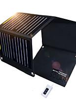 Недорогие -Солнечная батарея LED излучатели с USB кабелем Cool Походы / туризм / спелеология Черный
