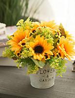 Недорогие -Искусственные Цветы 1 Филиал Классический европейский Пастораль Стиль Подсолнухи Букеты на стол