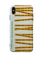 Недорогие -Кейс для Назначение Apple iPhone XS / iPhone XR / iPhone XS Max IMD / Ультратонкий / С узором Кейс на заднюю панель Слова / выражения ТПУ