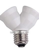 Недорогие -e27 удлинитель цоколя лампы патрон лампы патрон лампы двойной двойной галогенный светильник медный контакт адаптер конвертер