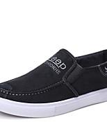 Недорогие -Муж. Комфортная обувь Полотно Лето Мокасины и Свитер Темно-синий / Серый / на открытом воздухе