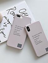 Недорогие -чехол для яблока iphone xs / iphone xr / iphone xs max imd / матовый / узор на задней обложке слово / фраза пк для iphone 6 / 6s / 6plus / 7/8 / 7plus / 8plus / x / xs / xr / xs max