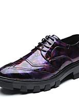 Недорогие -Муж. Официальная обувь Микроволокно Весна лето / Наступила зима Деловые / На каждый день Туфли на шнуровке Дышащий Черный / Красный