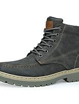 Недорогие -Муж. Fashion Boots Полиуретан Осень / Наступила зима Спортивные / На каждый день Ботинки Ботинки Черный / Коричневый / Серый / Офис и карьера / Армейские ботинки