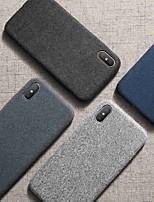 Недорогие -Кейс для Назначение Apple iPhone XS / iPhone X / iPhone 8 Pluss Защита от пыли / Ультратонкий / Матовое Кейс на заднюю панель Однотонный ТПУ