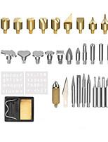Недорогие -37 штук щетки с регулируемой температурой, европейский стиль, резьба по дереву, брендинг, набор кистей