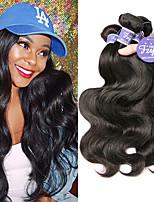 Недорогие -3 Связки Перуанские волосы Естественные кудри человеческие волосы Remy 100% Remy Hair Weave Bundles Человека ткет Волосы Удлинитель Пучок волос 8-28 дюймовый Нейтральный Ткет человеческих волос