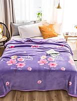 Недорогие -Одеяла, Цветочный принт / Простой Полиэстер Мягкость удобный одеяла