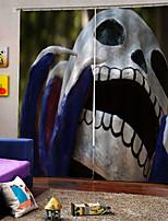 Недорогие -Личные оригинальные пользовательские шторы затемнения затенения хэллоуин декоративные ткани занавес для гостиной / спальни / клуба