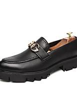 Недорогие -Муж. Комфортная обувь Полиуретан Осень На каждый день Мокасины и Свитер Нескользкий Черный / Белый