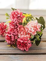 Недорогие -искусственная гортензия 1 букет / европейский классический пастырский настольный цветок
