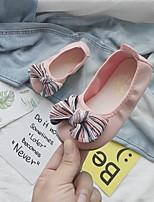 Недорогие -Девочки Удобная обувь Полиуретан На плокой подошве Маленькие дети (4-7 лет) Черный / Красный / Розовый Лето