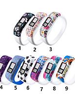 Недорогие -силиконовый ремешок для браслета для garmin vivofit jr jr2 vivofit 3 замена трекера активности большие / маленькие спортивные часы браслет ремешок