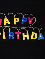 Недорогие -1.2 м с днем рождения письма строка огней 13 светодиодов многоцветный праздник декоративные 5 В 1 компл.