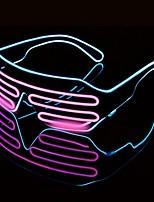 Недорогие -1 шт. Светодиодные очки хэллоуин красочные неоновые рождественские вечеринки bril flash стеклянные очки праздничные атрибуты