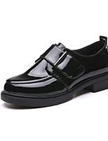 Недорогие -Жен. Ботинки Блочная пятка Круглый носок Полиуретан Лето Черный