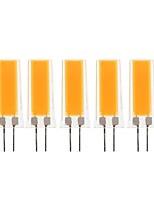 Недорогие -5 шт. 3 W Двухштырьковые LED лампы 300-390 lm G4 1 Светодиодные бусины COB Декоративная Милый Тёплый белый Холодный белый 220-240 V 110-130 V