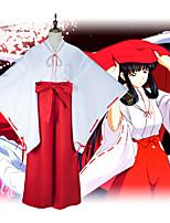 Недорогие -Вдохновлен Инуяша Косплей Аниме Косплэй костюмы Японский Кимоно Юбки Назначение Жен.