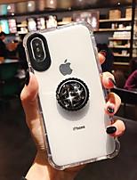 Недорогие -чехол для apple iphone xs / iphone xr / iphone xs max ударопрочный / держатель кольца / прозрачная задняя крышка прозрачный тпу
