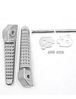 Недорогие -1 пара противоскользящая металлическая ножка для ног с педалью для задней подвески для Honda - серебро