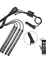 Недорогие -Светодиодные полосы автомобиля Brelong 48 светодиодные многоцветные подсветки салона автомобиля водонепроницаемый комплект со звуком активной функции и беспроводной пульт дистанционного управления