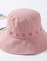 Недорогие -Жен. Активный Классический Симпатичные Стиль Широкополая шляпа Шляпа от солнца Хлопок,Контрастных цветов Все сезоны Черный Белый Розовый