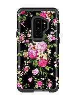 Недорогие -Кейс для Назначение SSamsung Galaxy S9 / S9 Plus Защита от удара / Защита от влаги Кейс на заднюю панель Пейзаж / Цветы ПК / силикагель