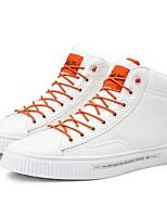 Недорогие -Муж. Комфортная обувь Полиуретан Осень Кеды Черный / Белый