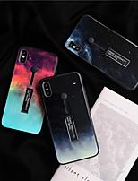 Недорогие -чехол для яблока iphone xs max / iphone 8 plus пыленепроницаемый / с подставкой под заднюю крышку небо / цветной градиент тпу / закаленное стекло для iphone 7/7 plus / 8/6/6 plus / xr / x / xs