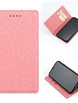 Недорогие -Кейс для Назначение SSamsung Galaxy Galaxy S10 / Galaxy S10 Plus / Galaxy S10 E Бумажник для карт / Защита от удара / Магнитный Чехол Однотонный Кожа PU