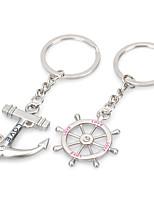 Недорогие -Брелок Обычные Модные кольца Бижутерия Серебряный Назначение Подарок Валентин