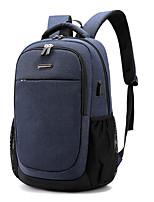 """Недорогие -Муж. Молнии рюкзак Большая вместимость Ткань """"Оксфорд"""" Контрастных цветов Черный / Темно-синий / Серый"""