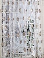 Недорогие -Современный Прозрачный 1 панель Прозрачный Гостиная   Curtains