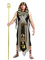 Недорогие -Египетские костюмы Косплэй Kостюмы Маскарад Взрослые Муж. Косплей Хэллоуин Хэллоуин Фестиваль / праздник Хлопок Полиэстер Черный Муж. Карнавальные костюмы