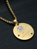Недорогие -Персонализированные Индивидуальные Лабрадор Теги для домашних животных Классический Подарок Повседневные 1pcs Золотой Серебряный