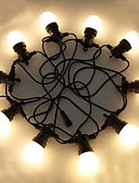 Недорогие -5 метров Гирлянды 10 светодиоды Тёплый белый Декоративная 220-240 V 1 комплект