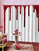 Недорогие -Роскошные уф-дигтал печати окровавленный фон занавес утолщение плотные шторы ткань спальни / гостиной / бар пользовательские занавес готовые
