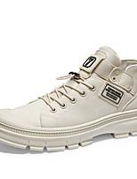 Недорогие -Муж. Комфортная обувь Полотно Весна лето / Наступила зима На каждый день / Английский Ботинки Для пешеходного туризма Дышащий Ботинки Черный / Бежевый / Хаки